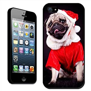 Fancy A Snuggle Pug Dressed as Santa Christmas Clip On Back Cover Hard Case for Apple iPhone 5