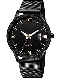 ZXMBIAO Reloj De Pulsera Reloj De Lujo con Banda De Malla Metálica Fecha De  Acero Inoxidable Reloj De Pulsera… 238ad260fc82