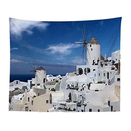 jtxqe Europäische und amerikanische Stadtlandschaft Nordic dekorative Kater Schlafzimmer Veranda Sofa Hintergrund Wand Tuch Wandbehang Wandteppich 1051 200-150 -