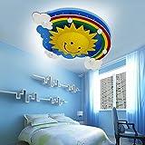 Natsen® LED Deckenleuchte Regenbogensonnen Lampe für Kinder Zimmer 24W kaltweiß