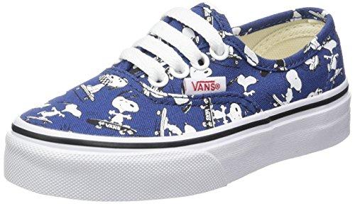 Vans Authentic, Zapatillas de Entrenamiento Unisex Niños, Azul (Snoopy/Skating Peanuts), 34.5 EU