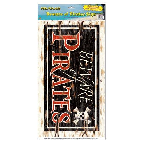 Three Sixty Degrees Ltd / Folienaufkleber Beware of Pirates