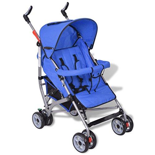 vidaXL Kinderwagen Buggy Sportwagen Kinderbuggy Babybuggy Babywagen Jogger Blau
