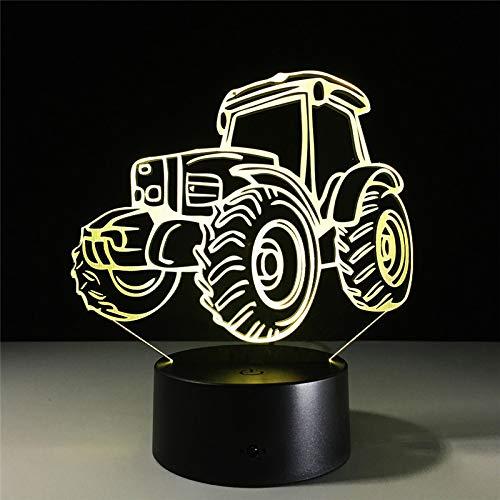 Tractor Pulling Calendario 2020.Veilleuse 3d Lampe Led Farm Vintage Tractor Car Action Figure 7 Couleurs Decoration Lumiere Optique