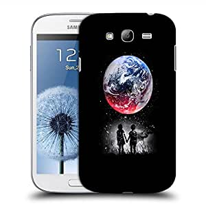 Snoogg Kids Watching The Moon Designer Protective Back Case Cover For SAMSUNG GALAXY GRAND DUOS I9082