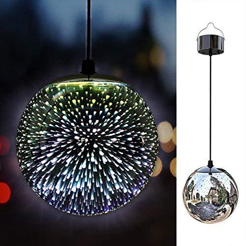 Takemeuro Solarlichter im Freiengarten, hängende Dekor-Lichter im Freien, anstarrende Ball-hängende LED-Feuerwerks-wasserdichte Lichter 3D