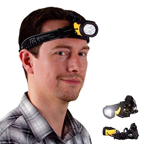 LED-Kopflampe mit 3 Leuchtfunktionen Stirnlampe Kopfleuchte Taschenlampe Licht