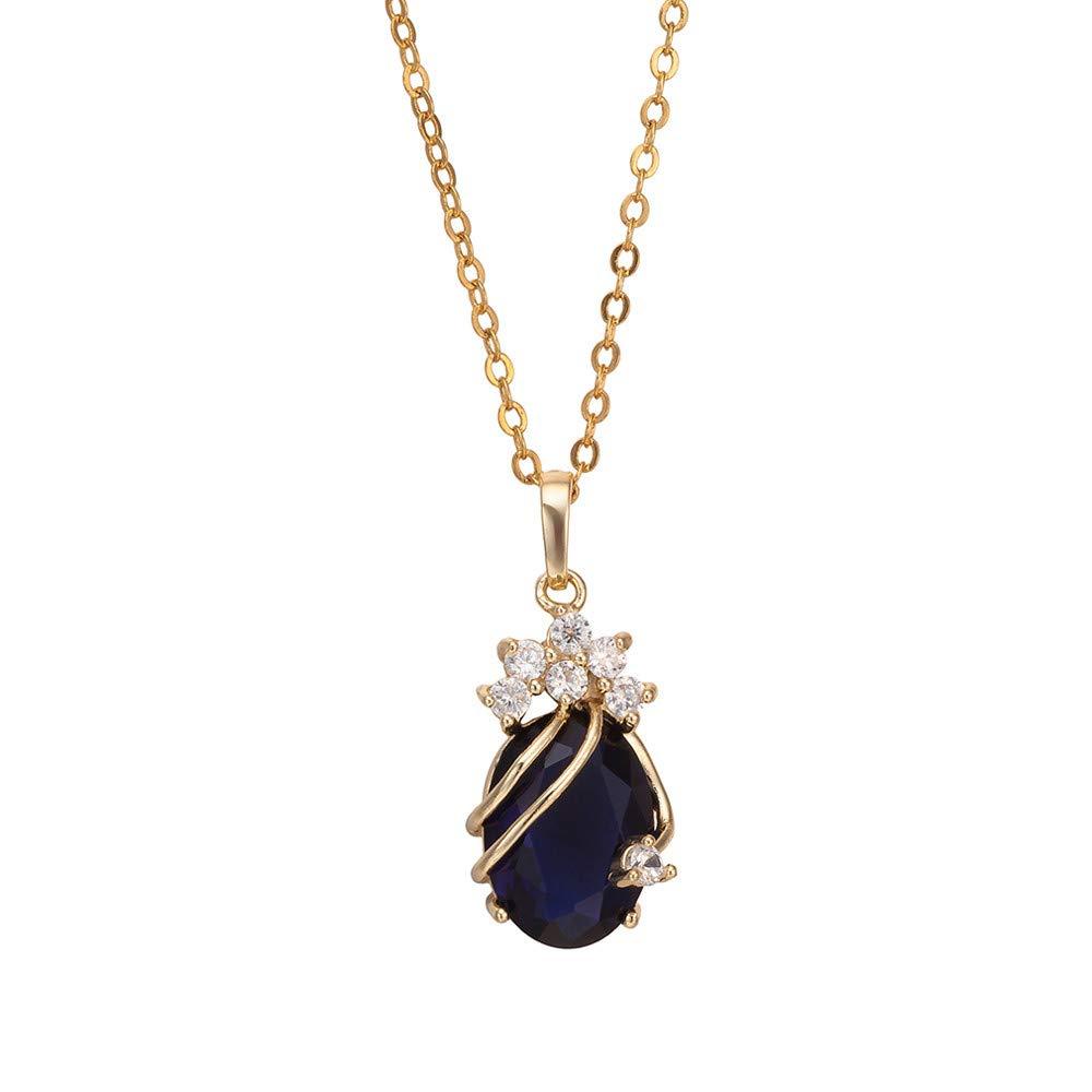 Cebbay Women Necklace,Romantic Women's Gemstone Pendant Necklace Jewelry, Bride's Gift,Elegant Lady, Princess Gift, Lady…