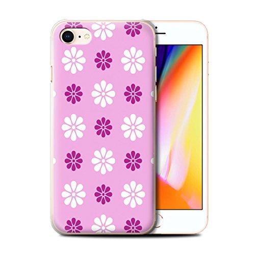 Stuff4 Hülle / Case für Apple iPhone 8 / Beige Muster / Muster mit Blütenblättern Kollektion Rosa