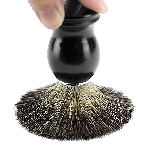 Ploopy 100% Pure Badger Hair Shaving Brush, Grooming Products, Hair Shaving Brush for Men, Shave Barber Hair Salon Tool