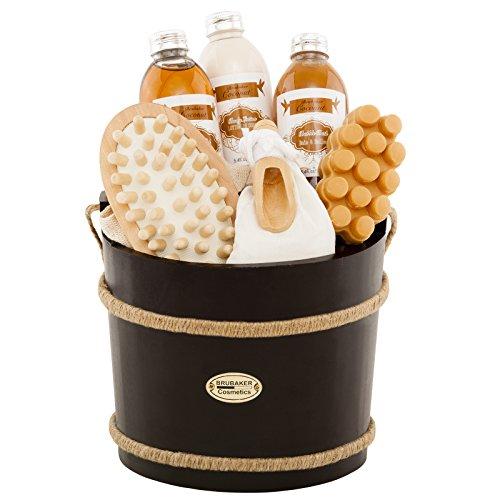 BRUBAKER 9-teiliges Wellness Verwöhn Badeset Geschenkset - Kokosnuss