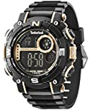Timberland Men's Tremont Quartz Watch with LCD Dial Digital Display and Black Rubber Strap 14503JPBG/02