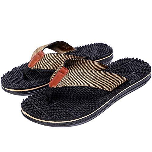 AlexsixMänner Flip Flops Massage Hausschuhe Sandalen Textilband Anti-Rutsch-Schuhe für Summer Beach -