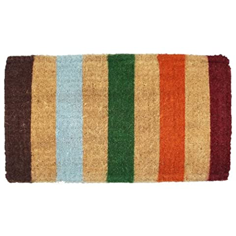J & M Home Fashions Stripe Imperial Coco Doormat, 18-Inch by 30-Inch