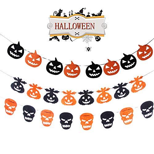 Halloween Girlanden, Halloween Banner Dekoration Set, Halloween Party -