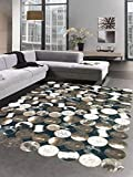 Carpetia Kuhfell Teppich Patchwork in Braun Schwarz Creme Größe 80x150 cm
