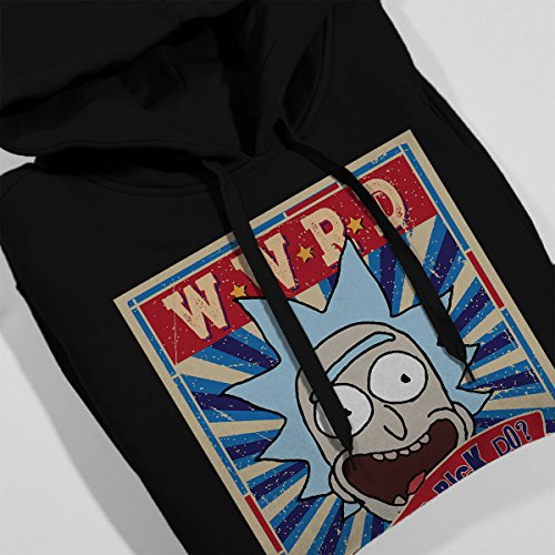 Rick And Morty What Would Rick Do Women's Hooded Sweatshirt Black