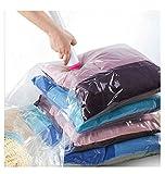 KEPLIN® Vakuumaufbewahrungsbeutel 6Stück 70cm x 50cm 9(80 % MEHR Kompression als bei unseren Konkurrenten) beste Dicht-Taschen für Kleidung, Bettdecken, Bettwäsche, Kissen, Decken, Vorhänge