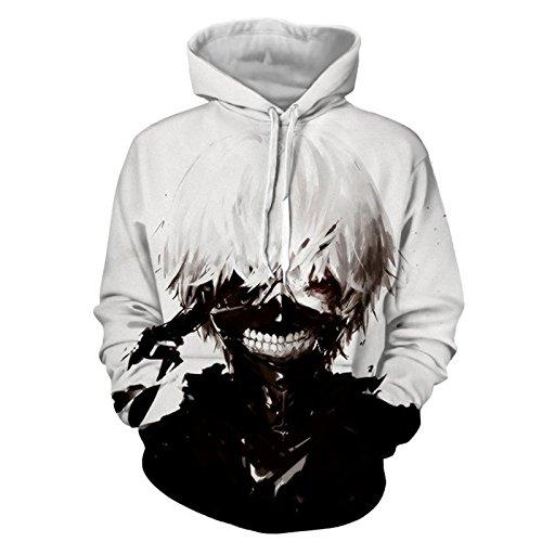 [JANDZ] Unisex Hoodie Tokyo Ghoul Design (EU (M)→ Asian (XL), Style- 27)