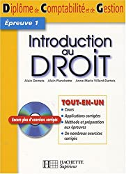 Introduction au droit (1Cédérom)
