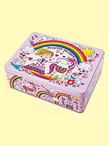 Rechteckig Dekorativ Dose Aufbewahrung für Mädchen - Prinzessin Treasures - Klappbar Zinn - Boxen Dekorative Aufbewahrung