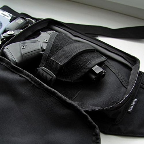 Marsupio con fondina interna per beretta 92 - 98 - glock 17 - 19 - nero