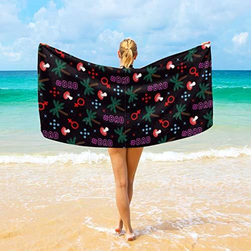 Ye Hua Tropisches Sommer Swag-Muster-superfeine Faser-Japanisches Schönheits-Haut-Bad-Waschlappen / -Tuch bunt -