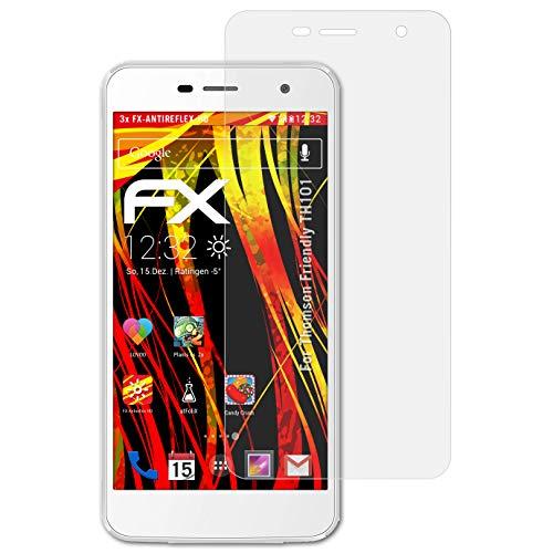 atFolix Schutzfolie kompatibel mit Thomson Friendly TH101 Bildschirmschutzfolie, HD-Entspiegelung FX Folie (3X)