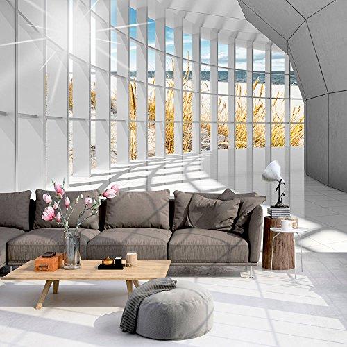 murando - Fototapete 350x256 cm - Vlies Tapete - Moderne Wanddeko - Design Tapete - Wandtapete - Wand Dekoration - Architektur Landschaft Meer c-C-0020-a-a (Architektur Wand)