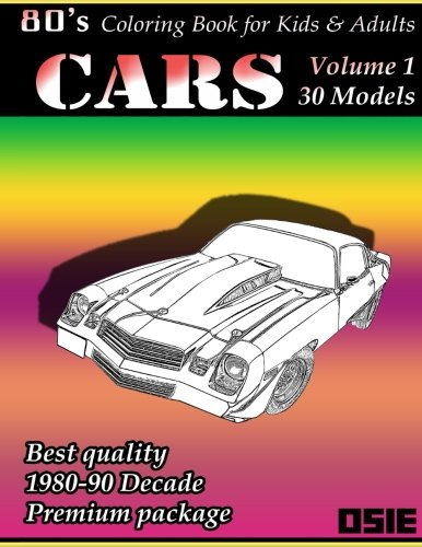80s Coloring Book For Children & Adults