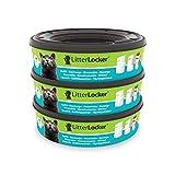 Litter Locker Pack de 3 Recharges Rondes de Film en Plastique pour Chat Vert 17 x 17 x 15 cm