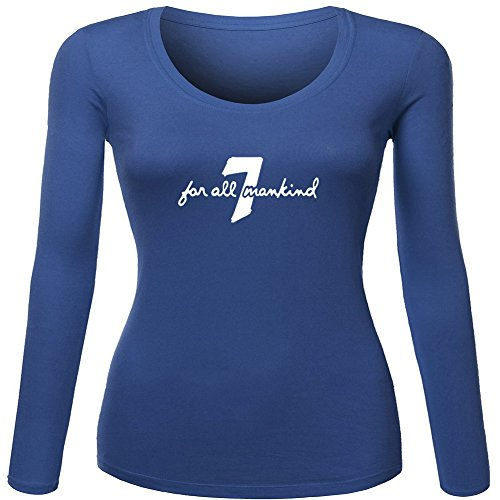 7 For All Mankind T-shirts (7 For All Mankind Printed For Ladies Womens Long Sleeves Outlet)