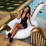 Flotador inflable en forma de Pegaso tamaño gigante para la piscina o playa. Pegaso flotador hinchable para la piscina o la playa por Integrity co