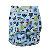 Baby Bucket All-In-One Bottom-bumpers Cloth Diaper (Printed Blue)