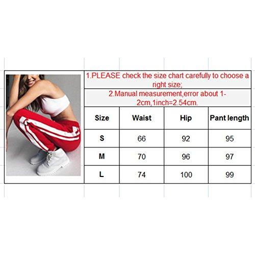 Donna Pantaloni sportivi Pantaloni da cotone Pantalone casual Pantaloni da slitta Pantalone da spalla per corsa, passeggiare, jogging, sport Nero Bianco Rosso S M L Highdas White Red
