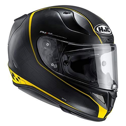 HJC casco Moto Rpha 11riberte MC 3SF, Negro/Amarillo, talla XS