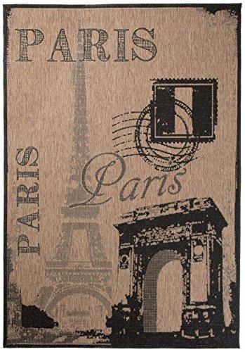 Carpeto rugs tappeto cucina 80 x 150 cm beige/nero sisal sisal collezione