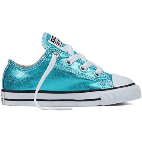 Converse Chuck Taylor All Star Metallic Infant Fresh Cyan Textile Trainers Fresh Cyan