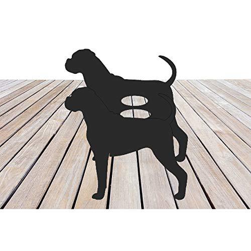Steel Images Garten-Übertopf Boxer Hund