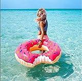 SKY TEARS Gonflable Donut Bouée Géante Piscine Flotteur Anneau de Natation Adulte (B)