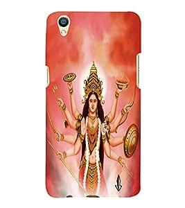 PrintVisa Lord Jai Maa Durga 3D Hard Polycarbonate Designer Back Case Cover for Oppo F1 Plus :: Oppo R9