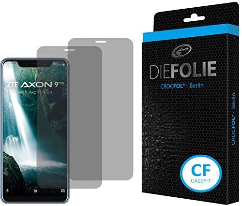 Crocfol Bildschirmschutz für ZTE Axon 9 Pro: 2X DIEFOLIE Schutzfolie Casefit Folie zur Nutzung mit Schutzhülle/Case