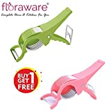 #4: Floraware Plastic Vegetable Cutter with Peeler, Set of 2, Multicolour