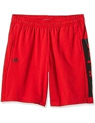 adidas ESS Lin Short - Pantalón corto para hombre, color rojo / negro, talla M