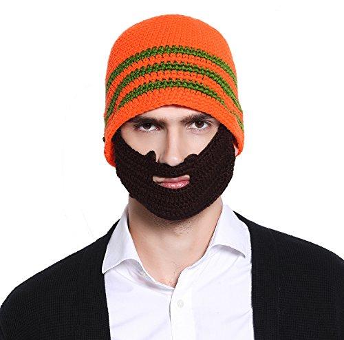 367a5818189 Bienvenu Winter Knit Unisex Beard Beanie Outdoor Hat Cap With Beard ...