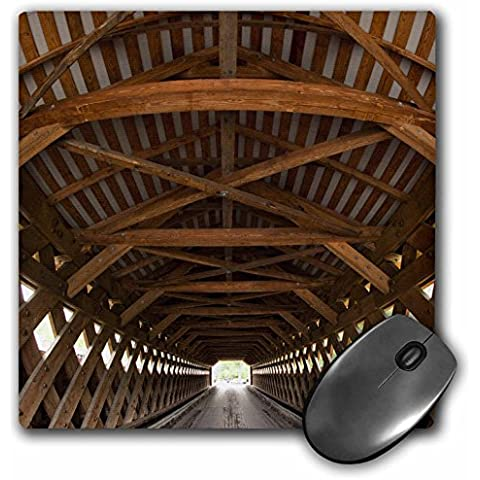 Danita Delimont - Bridges - Vermont, Bennington, Paper Mill Covered Bridge - US46 PSO0001 - Paul Souders - MousePad (mp_95035_1)