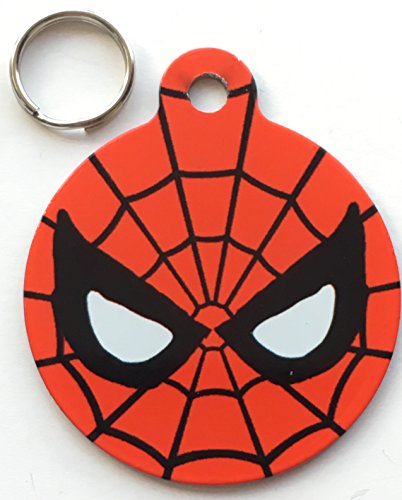 Spider Man Offizielles Marvel & DC Comics – Hunde/Katzen Pet ID Tag 25 mm (Spider-man-hund-tag)
