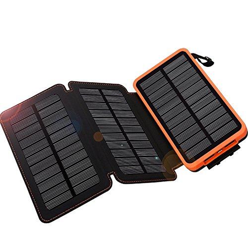WBPINE Solar Ladegerät Powerbank 24000mAh Outdoor Powerbank Solar Wasserdicht für iPhone, iPad, Samsung,Tablet,Kamera,Android Smartphones,Bluetooth Lautsprecher usw.