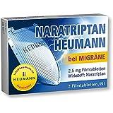 NARATRIPTAN Heumann bei Migräne 2,5 mg Filmtabl. 2 St Filmtabletten