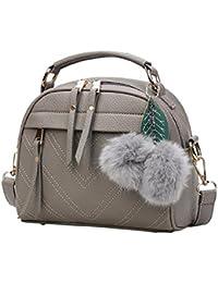 Vodool Women Messenger Handbag Shoulder Bag Crossbody PU Leather Satchel Sling Bag